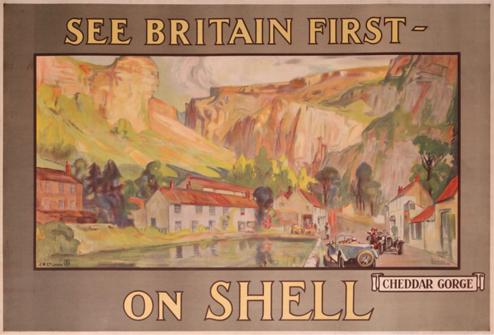 For sale: SHELL  SEE BRITAIN FIRST ON SHELL CHEDDAR GORGE
