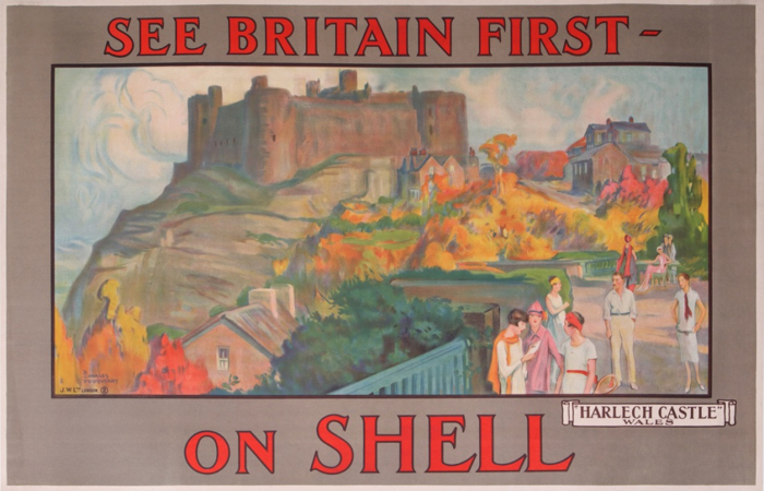 For sale: SHELL SEE BRITAIN FIRST ON SHELL HARLECH CASTLE WALES  - Tennis