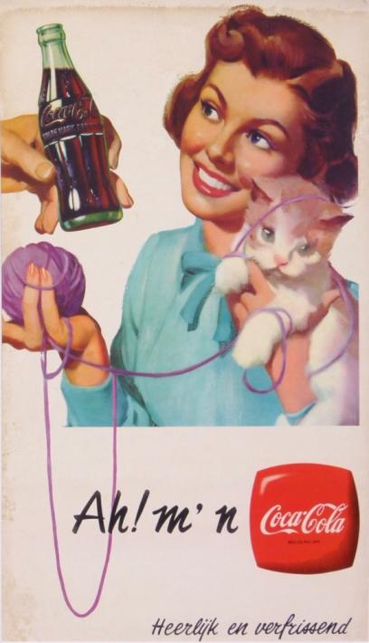 COCA COLA DRINK AHMN HEERLIJK EN VERFRISSEN DELICIEUX ET REFRIGERANT Antique Vintage Posters From ANONYM