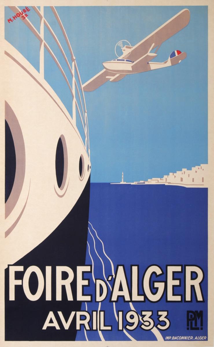 Antique Vintage Posters : plm foire d4alger algérie HOUBÉ -