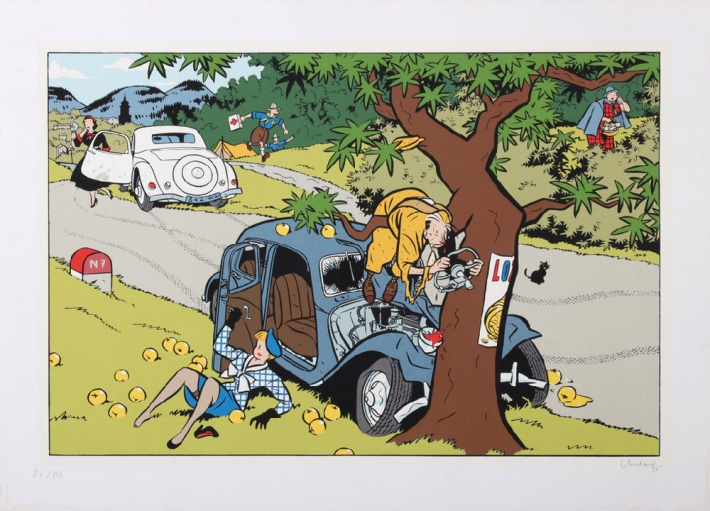 For sale: YVES CHALAND - L'ACCIDENT DE LA ROUTE NATIONALE 7