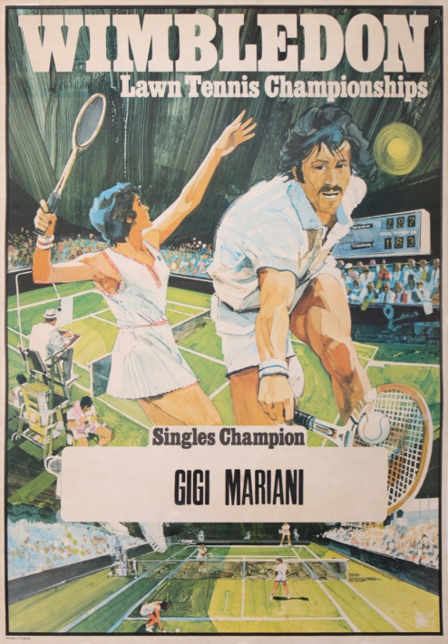 For sale: WIMBLEDON - LAWN TENNIS CHAMPIONSHIPS - SINGLES CHAMPIONS - GIGI MARIANI