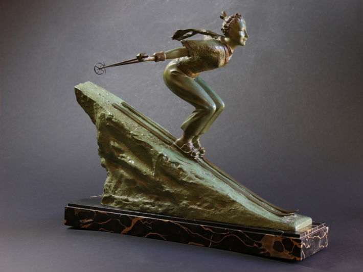 For sale: LADY SKIER AT ZERMATT