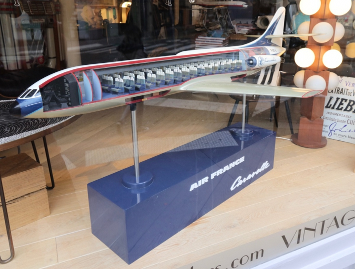 For sale: CARAVELLE F.BEHL GRANDE MAQUETTE D'AGENCE AIR FRANCE