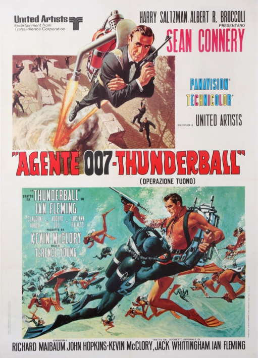 For sale: AMES BOND AGENTE 007 THUNDERBALL  SEAN CONNERY VERSION ITALIENNE