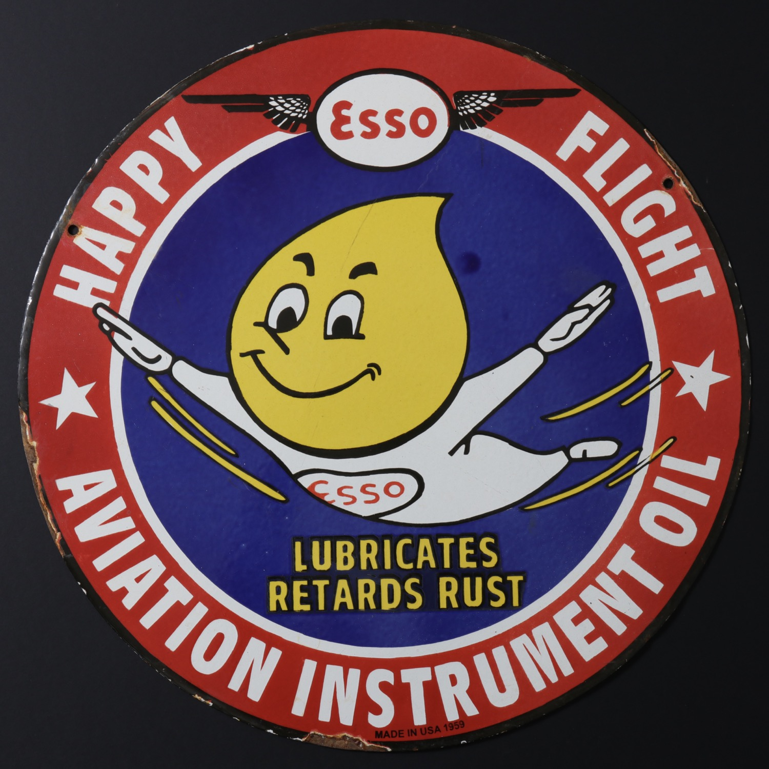For sale: ESSO HAPPY FLIGHT AVIATION INSTRUMENT OIL-PLAQUE EMAIL