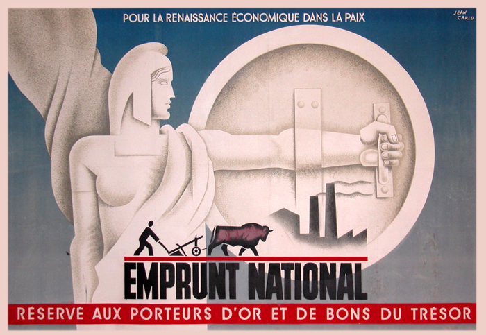 For sale: EMPRUNT NATIONAL AFFICHE ANCIENNE DE JEAN CARLU
