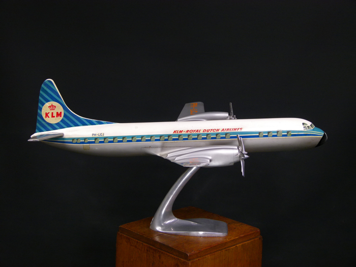 For sale: MAQUETTE D'AGENCE KLM LOOCKEED ELECTRA L 188 ROYAL DUTCH AIRLINES