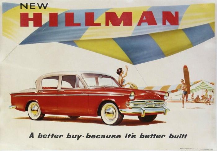 For sale: NEW HILLMAN  a Better buy-necause it's better Built