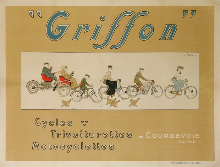For sale: GRIFFON CYCLES TRIVOITURETTES MOTOCYCLETTES COURBEVOIE