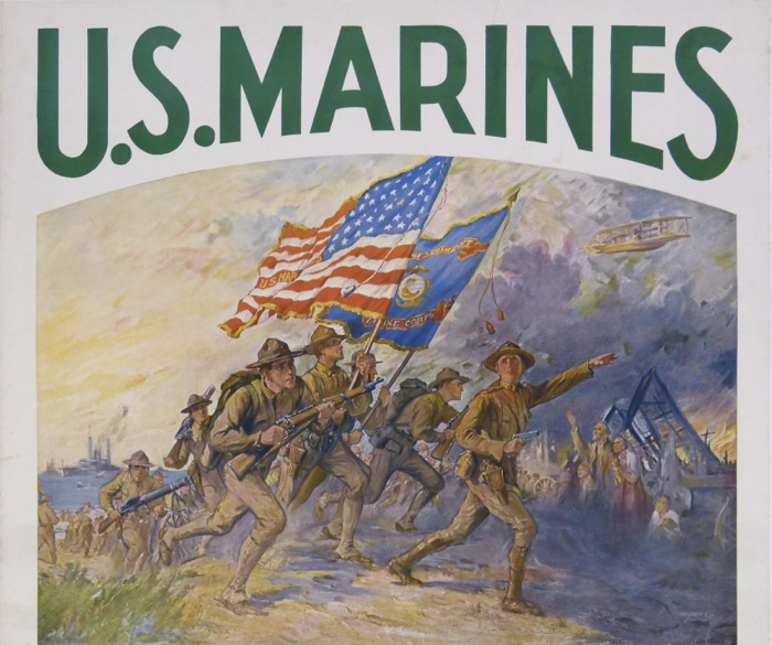 For sale: US MARINES-FIRST TO FIGHT IN FRANCE FOR FREEDOM ENLIST WITH SOLDIERS OF THE SEA