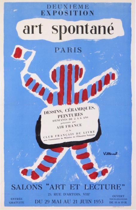 Antique Vintage Posters 2eme Exposition D Art Spontane Paris 1953