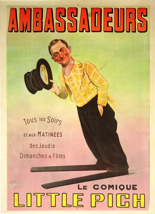 For sale: AMBASSADEURS LE COMIQUE LITTLE PICH AFFICHE ANCIENNE VINTAGE POSTER
