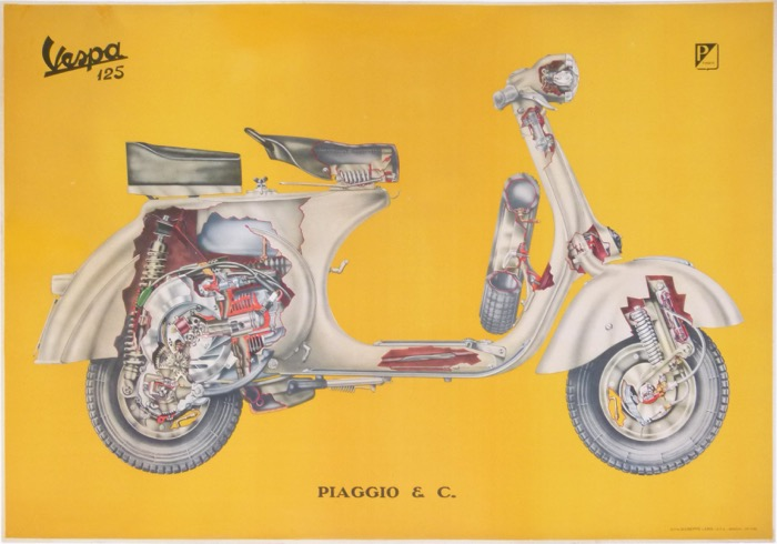 For sale: PIAGGIO VESPA 125cc   ECLATÉ MECANIQUE
