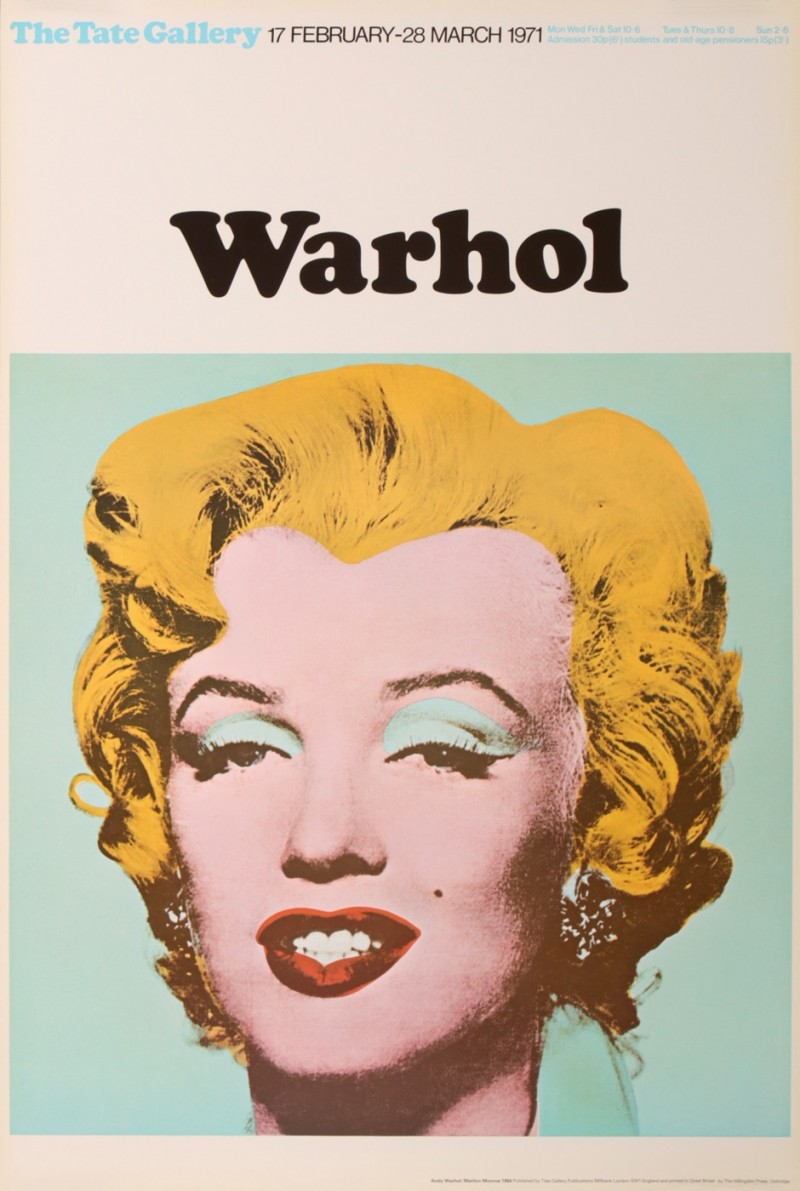 Antique Vintage Posters Andy Warhol Marilyn Monroe Exposition 1971