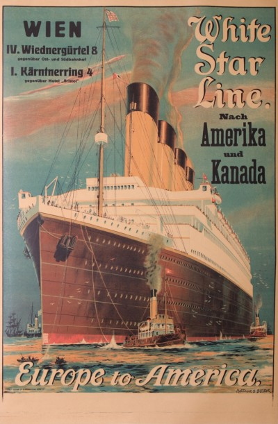 For sale: WHITE STAR LINE NACH AMERIKA UND KANADA WIEN  EUROPE TO AMERICA  GERMAN TEXT