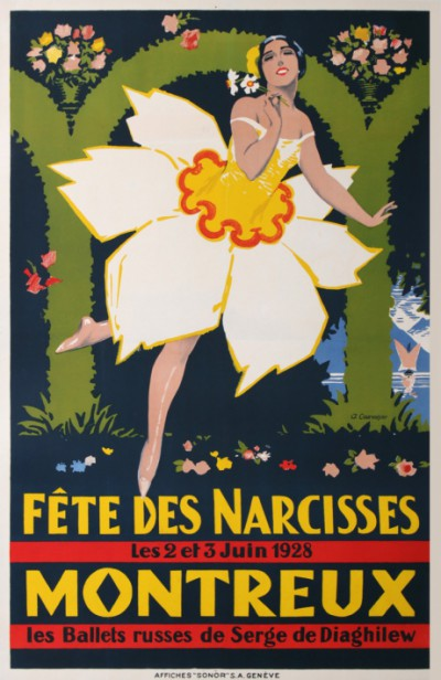 For sale: MONTREUX - FETE DES NARCISSES 1928 BALLETS RUSSES de SERGE DIAGHILEW