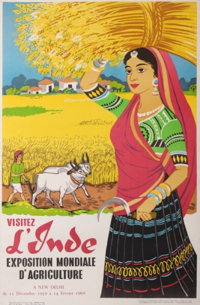 For sale: VISITEZ L'INDE  EXPOSITION MONDIALE D'AFRICULTURE 1959 NEW DELHI