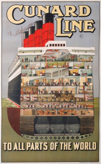 For sale: CUNARD LINE TO ALL PARTS OF THE WORLD