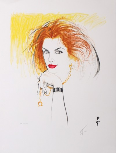 For sale: DIOR CINDY CRAWFORD  LITHOGRAPHIE ORIGINALE