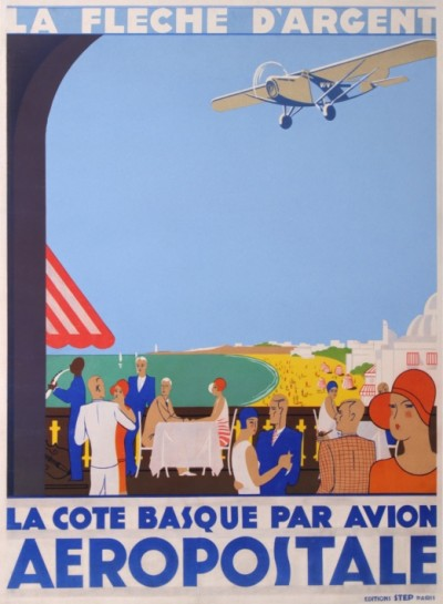 For sale: LA FLECHE D ARGENT LA COTE BASQUE PAR AVION AEROPOSTALE