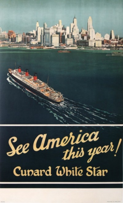 For sale: CUNARD WHITE STAR SEE AMERICA THIS YEAR