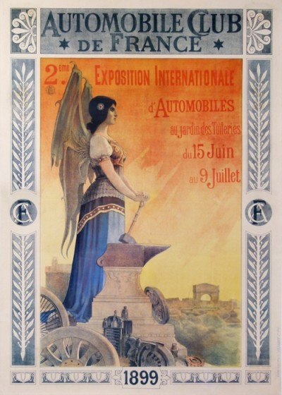 For sale: AUTOMOBILE CLUB DE FRANCE EXPOSITION INTERNATIONALE 1899 D AUTOMOBILES TUILERIES