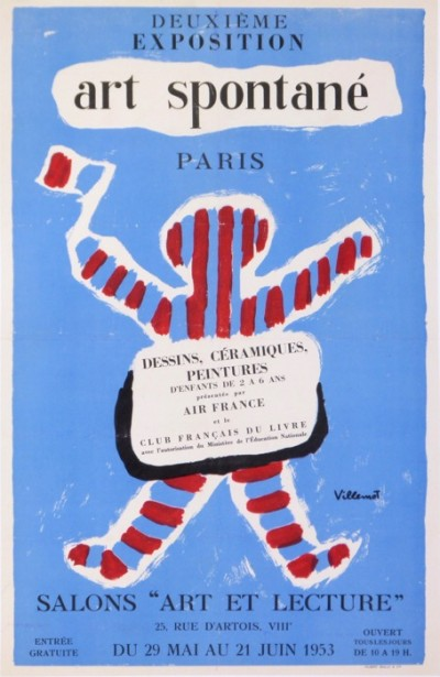 For sale: 2eme EXPOSITION D'ART SPONTANÉ PARIS 1953 DESSINS CERAMIQUES PEITURES CLUB FRAN