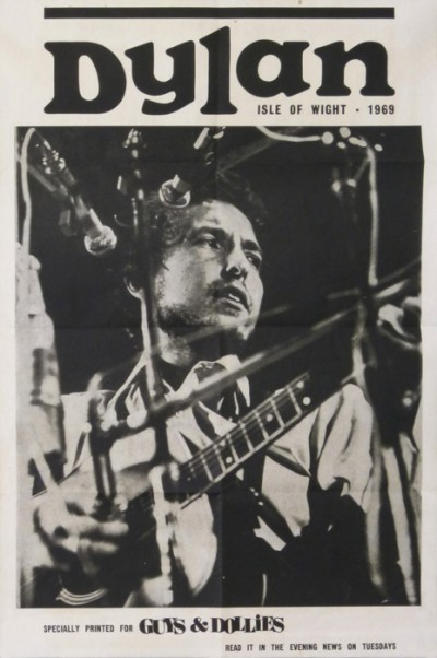 For sale: BOB DYLAN ISLE OF WIGHT 31 AUGUST 1969 READ IT IN THE EVENING  NEWS ON TUESDAYS