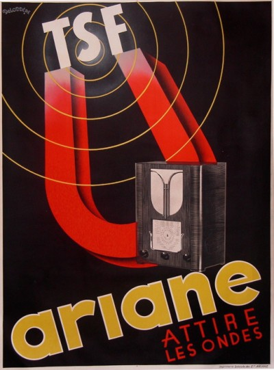 For sale: AFFICHE ANCIENNE RADIO TSF ARIANE