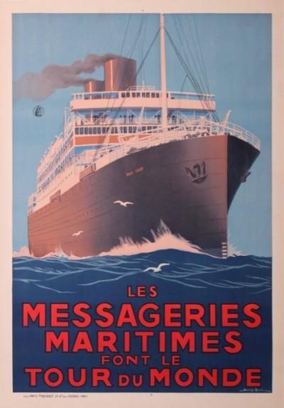 For sale: LES MESSAGERIE MARITIMES FONT LE TOUR DU MONDE