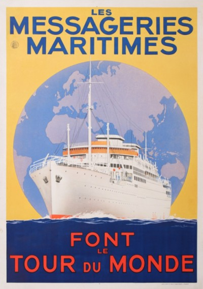 For sale: LES MESSAGERIES MARITIMES FONT LE TOUR DU MONDE