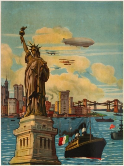 For sale: NEW YORK STATUE OF LIBERTY DIRIGEABLE ZEPPELIN