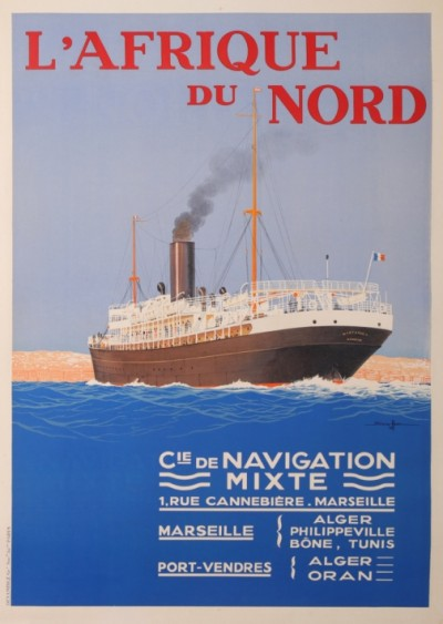 For sale: Cie de NAVIGATION MIXTE AFRIQUE DU NORD PAR PORT VENDRES