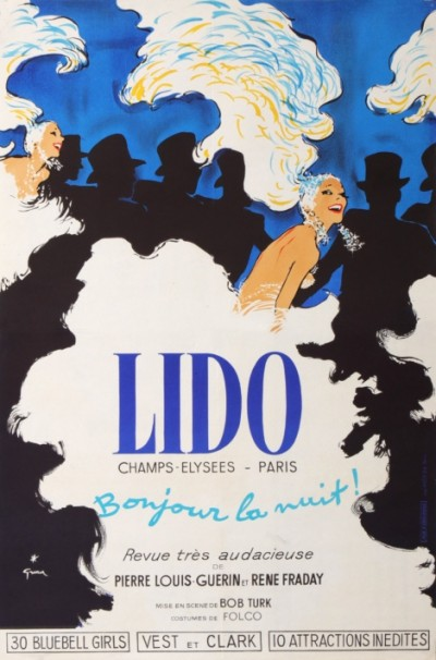 For sale: LIDO REVUE BONJOUR LA NUIT CHAMPS ELYSEES BLUEBELLS GIRLS