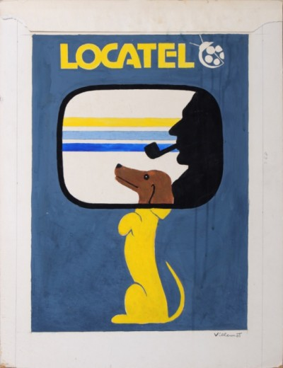 For sale: LOCATEL  TECKEL DOG  MAQUETTE GOUACHE