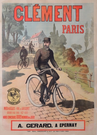 For sale: CYCLES CLEMENT PARIS  1889  MEDAILLE D'OR
