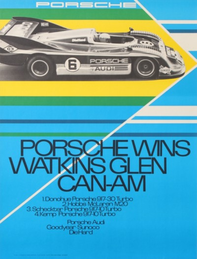 For sale: PORSCHE  WINS WATKINS GLEN CAN-AM