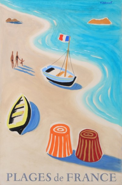 For sale: PLAGES DE FRANCE MAQUETTE GOUACHE