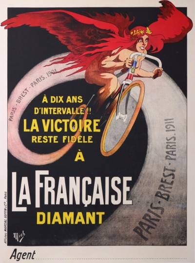 For sale: LA FRANCAISE DIAMANT CYCLES -  PARIS -BREST 1911 A 10 ANS LA VICTOIRE RESTE  FI
