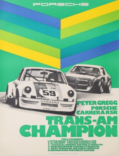 For sale: PORSCHE PETER GREGG TRANS-AM CHAMPION