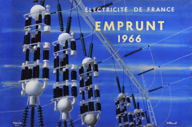 For sale: ELECTRICITE DE FRANCE EMPRUNT 1966 EDF MAQUETTE GOUACHE