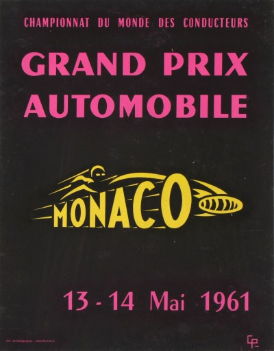 For sale: GRAND PRIX AUTOMOBILE MONACO 1961