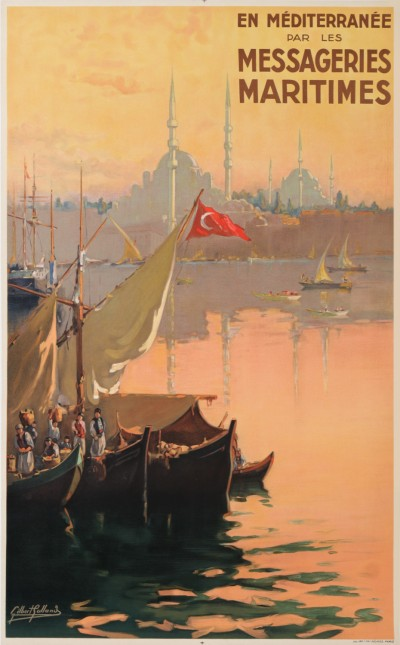 For sale: MESSAGERIES MARITIMES - EN MEDITERRANEE TURQUIE CONSTANTINOPLE ST CATHERINE