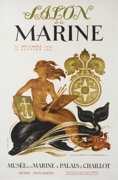For sale: EXPOSITION SALON DE LA MARINE MUSEE DE LA MARINE PALAIS CHAILLOT 1956