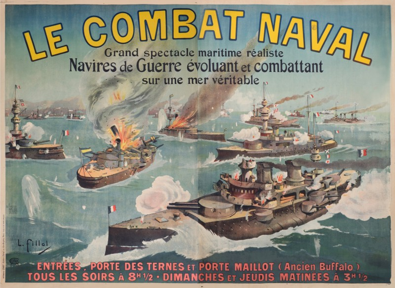 For sale: SPECTACLE DE COMBAT NAVAL PORTE MAILLOT ANCIEN BUFFALO -PARIS NAVIRE DE GUERRE