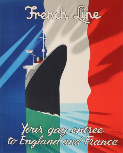 For sale: FRENCH LINE COMPAGNIE GENERALE TRANSATLANTIQUE  YOUR GAY ENTREE TO ENGLAND AND F
