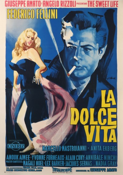 For sale: LA DOLCE VITA THE SWEET LIFE MARCELLO MASTROIANNI ANOUK AIMÉE FELLINI FEDERICO