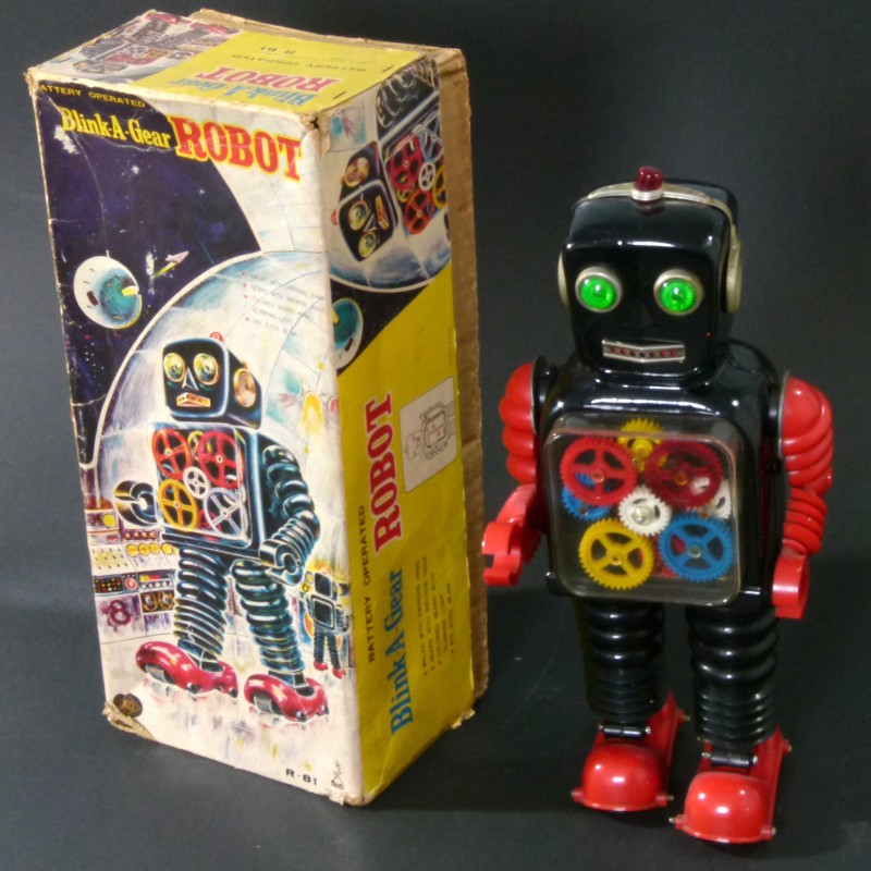 For sale: ROBOT TAIYO BLINK A GEAR R 81 BATTERY OPERATED AVEC BOITE ORIGINALE