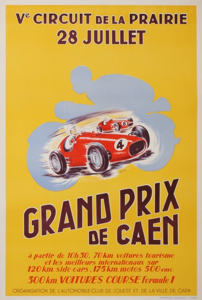 For sale: GRAND PRIX DE CAEN Ve CIRCUIT DE LA PRAIRIE 28 JUILLET 1957